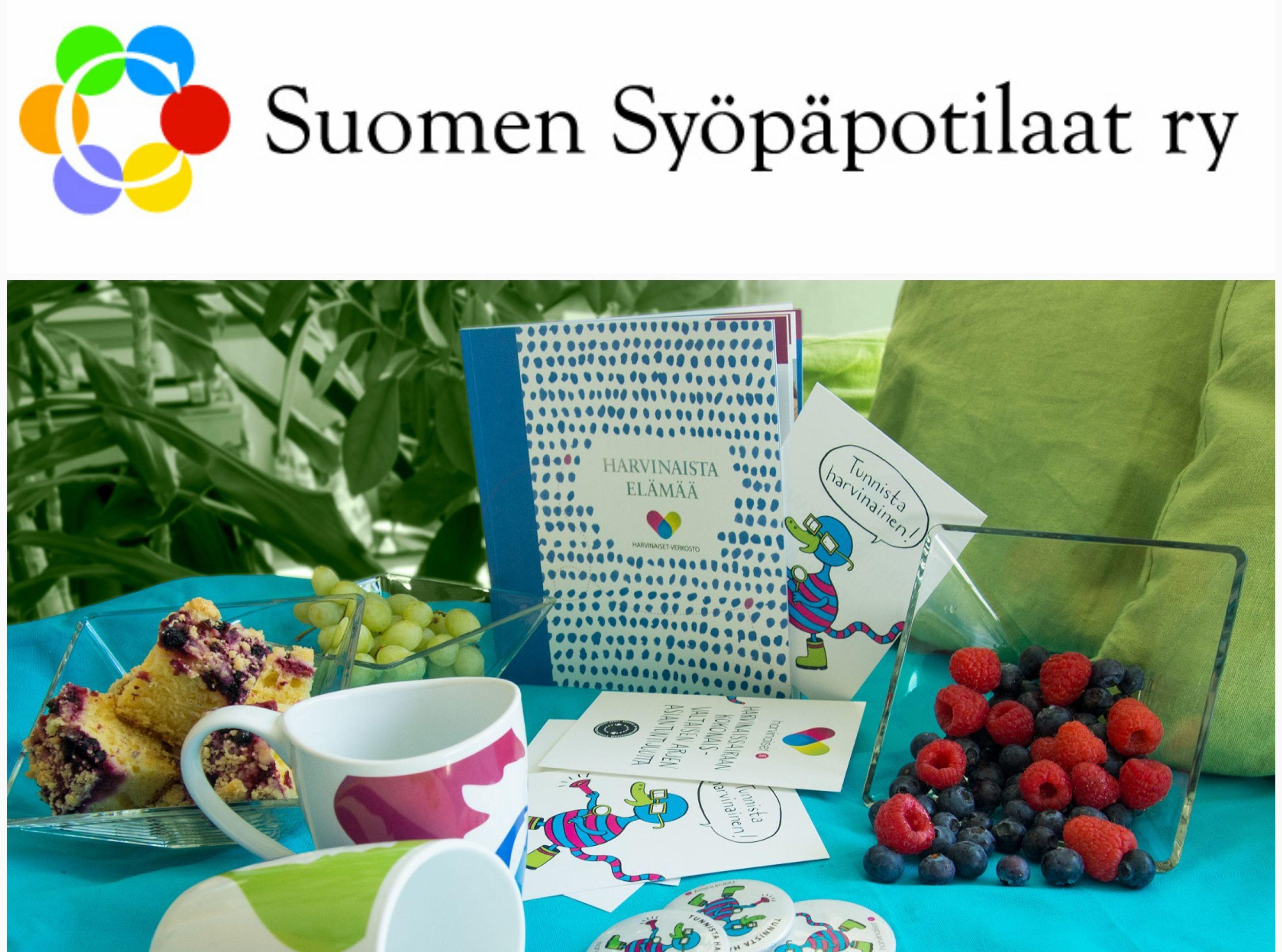 Suomen syöpäpotilaat -logo ja verkoston materiaaleja.